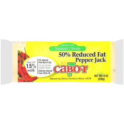Cabot Vermont: Premium Natural Cheese 50% Reduced Fat Pepper Jack, 8 Oz