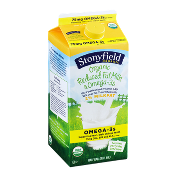 Stonyfield Organic 2% Reduced Fat Milk & Omega-3s