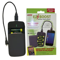 Perfpower Go Green EZBoost Smart Phone Mobile Charger with 6 AA Batteries
