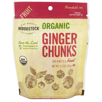 Woodstock Farms Ginger Crystallized Chunks 6Ounce (Pack of 8)