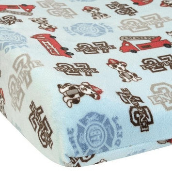 NoJo Engine 27 Contoured Changing Pad Cover, Ivory/Blue (Discontinued by Manufacturer)