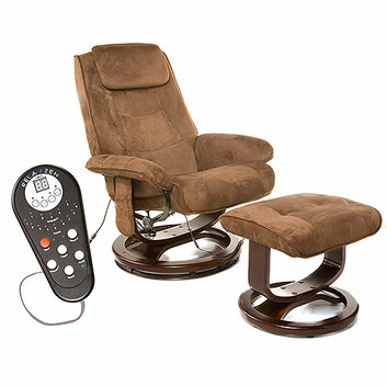 Relaxzen Reclining Massage Chair and Ottoman