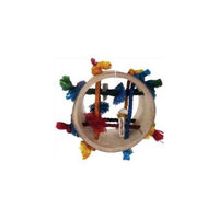 A & E Cage Co Java Wood Puzzle Tube Small Animal Toy