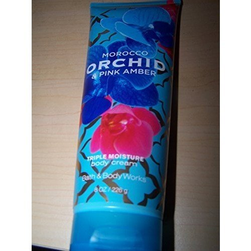 Bath & Body Works Morocco Orchid & Pink Amber 8.0 oz Triple Moisture Body Cream