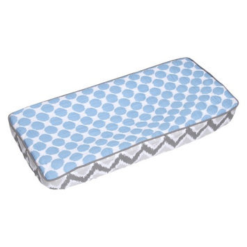 Bacati Ikat Zigzag/Dots Changing Pad Cover Color: Lilac
