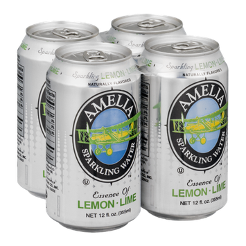 Amelia Sparkling Water Lemon-Lime - 4 PK
