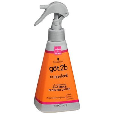 göt2b® CrazySleek Hot Smooth Flat Iron & Blow Dry Lotion