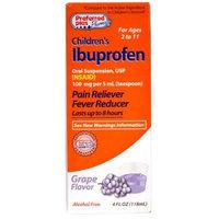 Preferred Plus Pharmacy Children's Ibuprofen Pain Reliever/Fever Reducer, Grape 4 oz