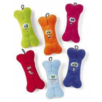 Ethical Plush Bones with Embroidered Face Dog Toy, 7-Inch
