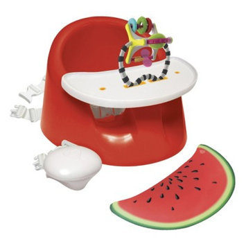 Prince Lionheart BebePOD Flex Plus Booster and Floor Seat - Pink Watermelon