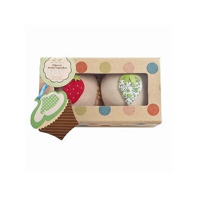 Baby Bunch Organic Cupcake Bodysuit 2 Pack 0-6 Month