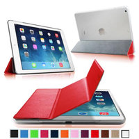 Fintie Ultra Slim Lightweight Case with Semi Transparent Hard Shell Cover for Apple iPad Air (5th Gen), Red/Frost