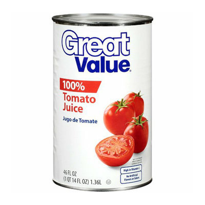 Great Value : 100% Tomato Juice