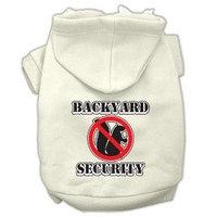 Mirage Pet Products Backyard Security Screen Print Pet Hoodies Cream Size XL (16)