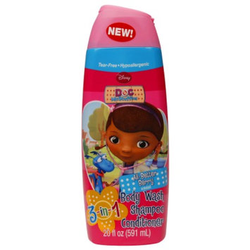 Doc McStuffins Tear-Free 3in1 Body Wash, Shampoo & Conditioner, All Better Berry, 20 fl oz