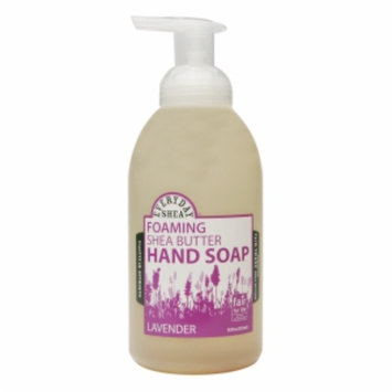 Alaffia EveryDay Shea Foaming Shea Butter Hand Soap, Lavender, 18 fl oz