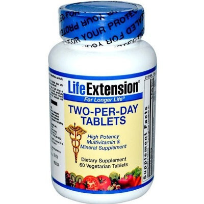Two Per Day Life Extension 60 VegTablet