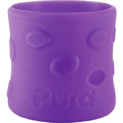 Pura Kiki Pebble Silicone Bottle Sleeve, Grape, Short