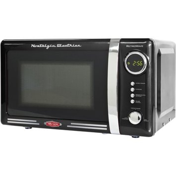 Nostalgia Electrics Retro Series 0.7-Cubic Foot Microwave Oven, Black, 1 ea