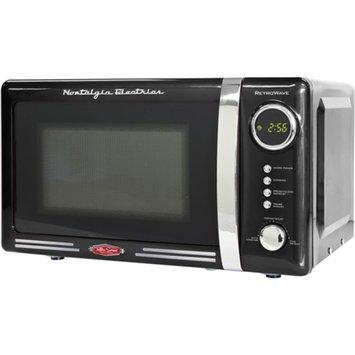 Nostalgia Electrics Retro Series 0.7-Cubic Foot Microwave Oven, Black, 1 ea