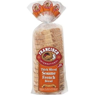 Francisco International French Thick Sliced Sesame Bread, 16 oz