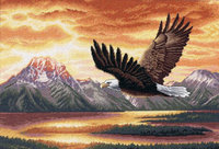Dimensions Gold Counted Cross Stitch Kit - Silent Flight