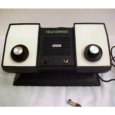 ATARI Sears Tele-Games PONG System From The Mid 1970's! ONE OF THE EARLIEST OF HOME VIDEO GAME SYSTEMS!