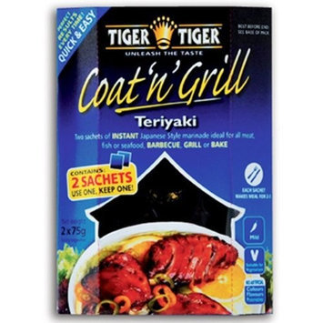 Tiger Tiger Teriyaki Coat and Grill Sauce, 2-Count, 5.3 Ounce Boxes (Pack of 6)
