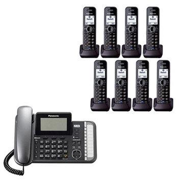Panasonic KX-TG9582B + (6)KX-TGA950B 8 Handset Corded / Cordless (2 Li