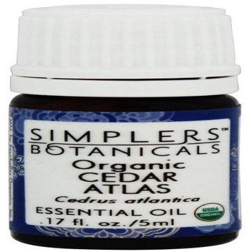 Simplers Botanicals - Organic Cedar Atlas Essential Oil - 0.17 oz.