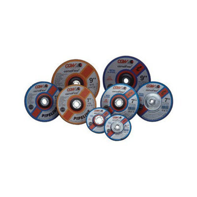 CGW Abrasives Depressed Center Wheels-Pipeline, Cutting / Light Grind - 7x1/8x5/8-11 a24-r-bf pipeline steel dp ct whl