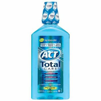 Act Total Care Icy Clean Mint Anticavity Fluoride Mouthwash 33.8 Fl OZ