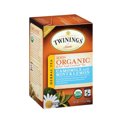TWININGS® OF London Camomile with Mint & Lemon Organic Tea Bags