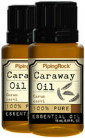 Piping Rock Caraway Essential Oil 2 Bottles x 1/2 oz (15 ml) 100% Pure Oil Therapeutic Grade