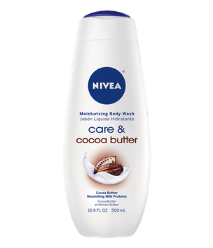NIVEA Care & Cocoa Butter Moisturizing Body Wash