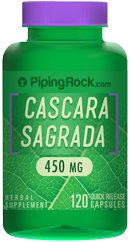 Piping Rock Cascara Sagrada 450mg 120 Capsules