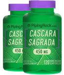 Piping Rock Cascara Sagrada 450 mg 2 Bottles x 120 Caposules