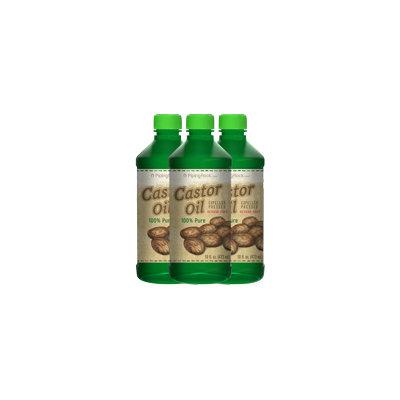 Piping Rock Castor Oil (Expeller Pressed) Hexane Free 3 Bottles x 16 fl oz