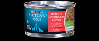 PRO PLAN® FOCUS ADULT Healthy Metabolism® Formula Turkey Entree In Gravy