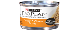 PRO PLAN® NUTRITION THAT PERFORM® Chicken & Cheese Entree In Gravy