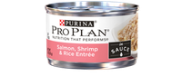 PRO PLAN® NUTRITION THAT PERFORM® Salmon, Shrimp & Rice Entree In Sauce