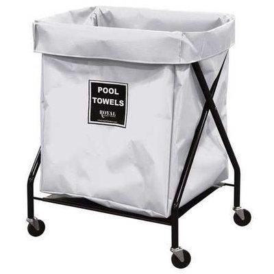 ROYAL BASKET TRUCK G08-WWX-XPA-3ONN Pool Towel X-Frame, 8 bu, white vi