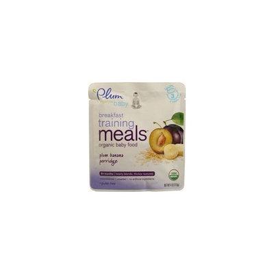 Plum Organics Plum Organic Breakfast Training Meals Plum Banana Porridge Baby Food - 4 Oz. Pouch