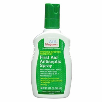 Walgreens First Aid Antiseptic Spray
