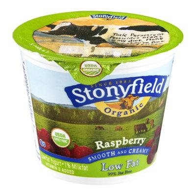 Stonyfield Organic Low Fat Yogurt Raspberry