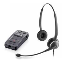 Jabra GN 2125 Duo NC with LINK 850 Amp Duo Headset with Telecoil