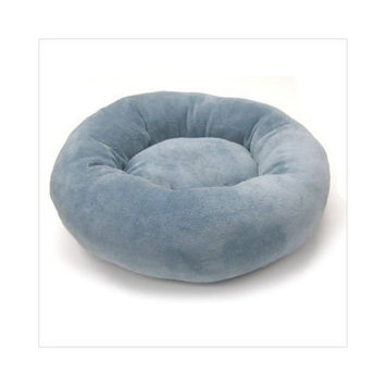 Precision Pet Donut Bed 20-Inch Dusty Blue Baby Terry
