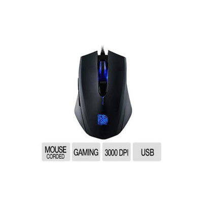Thermaltake TT ESPORTS Talon Gaming Mouse - Up to 3000DPI, LED Lightning, Optical Sensor, 6 Buttons, Blue - MO-TLB-WDOOBK-01