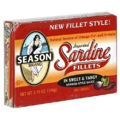 Seasons Sardine Fillets Sweet & Tangy -- 3.75 oz