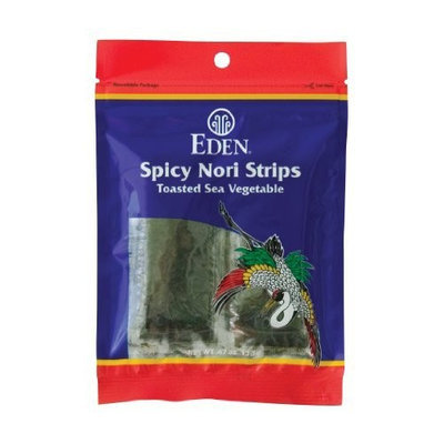 Eden Spicy Toasted Nori Strips - Cultivated, 0.47-Ounce Packages (Pack of 6)